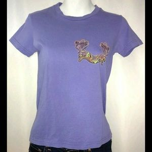 2 B Free Purple Graffiti Tee Shirt As Seen On S